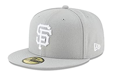 New Era 59Fifty Hat San Francisco Giants Basic Gray Fitted Cap 11194675