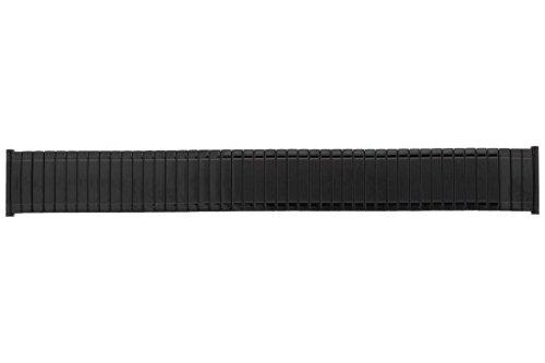 20 mm PUREgrey Edelstahlflex Uhrenarmband PVD schwarz - Zugband