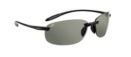 Serengeti 7318 - Gafas de sol deportivas, color negro brillante