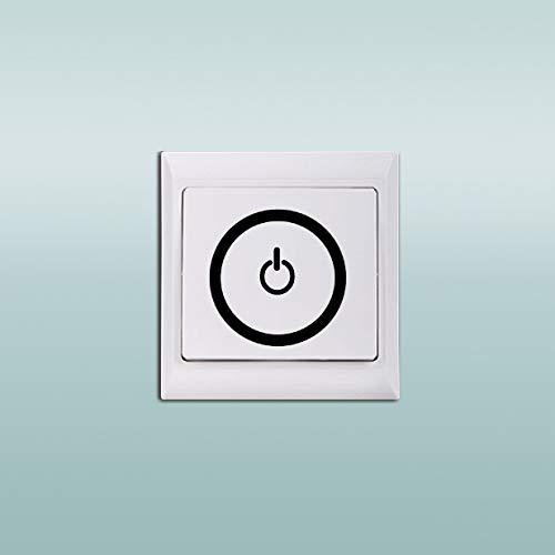 Ausschalten/Einschalten PC Symbol Lichtschalter Aufkleber Lustige Elektrizität Wandaufkleber für Kinderzimmer Schlafzimmer Wohnzimmer Wohnkultur 5 * 5 cm * 3 stücke