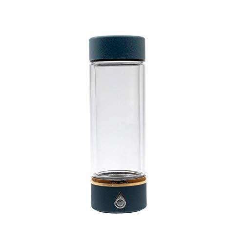 450 Ml Wasserstoff-Wasserflasche Alkalische Wasserkocher SPE / PEM Membrantechnologie Ionisatorfilter Kein Ozon, Kein Restchlor Tragbarer USB-Akku Hohe Konzentration Wasserstoff-Wasser-Generator