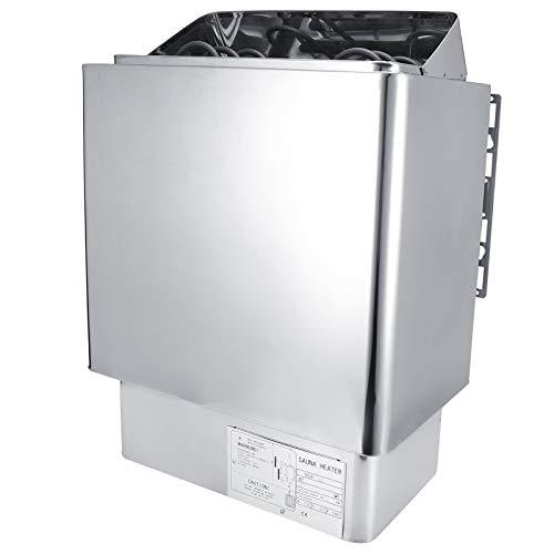 Cikonielf Saunaofen Edelstahl Saunaofenheizung Dampfbad Badezimmer SPA-Ausrüstung mit externem Bedienfeld 3KW 220V