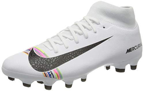 Nike Men's Mercurial Superfly 6 CR7 Soccer Cleat White/Black/Pure Platinum Size 9 M US
