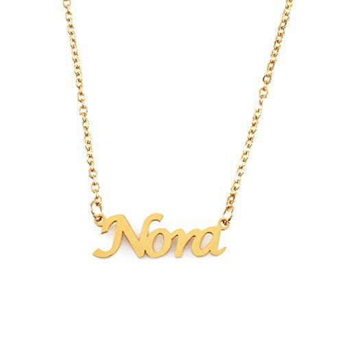 KL Kigu Nora Vergoldet Namenskette Personalisiert Damen Halskette Mit Namen Fashion Schmuck Geschenk Fur Freundin Mutter Schwester