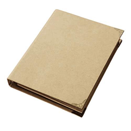 ZANZAN Cuadernos de Notas Cuadernos de Hojas Sueltas-Binding, reemplazable Interior páginas en Blanco/Negro/Cuero de Vaca/Negro de Cuero de Vaca + Papel gobernado/Blanco blocs de Notas