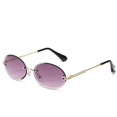 WOXING Vintage Sin Montura Gafas De Sol,Mujer Moda Gafas,Metal Gafas,Hombre Retro Pesca Aire Libre Deportes Viajes Conducir Unisex Protección UV-C 14.7x4.2cm(6x2inch)