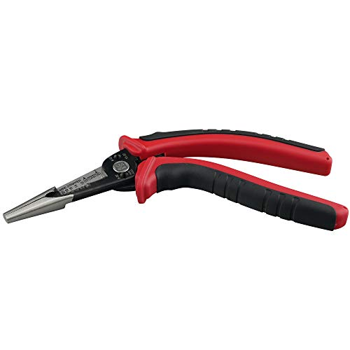 KAIFNT K602 Ergonomic 6-In-1 Combination Wire Service Tool, Stripping Crimping and Gripping Pliers, 8' Electrician Pliers