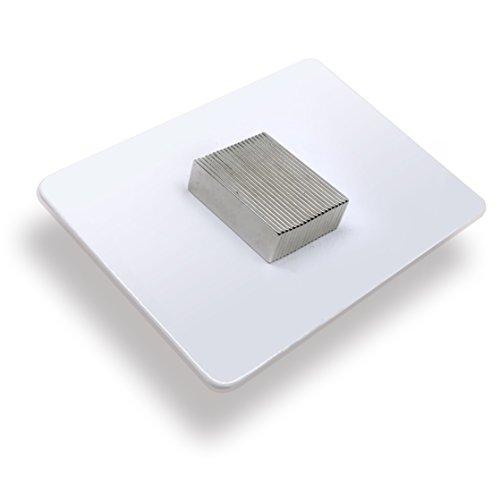 20 x Bloques magnéticos de neodimio | Imán / Imanes | 25 x 8 x 1 mm | niquelados (NiCuNi) | Fuerza de sujeción (fza. sujec.): aprox. ~ 1.1 kg | 20 uds. Bloque magnético