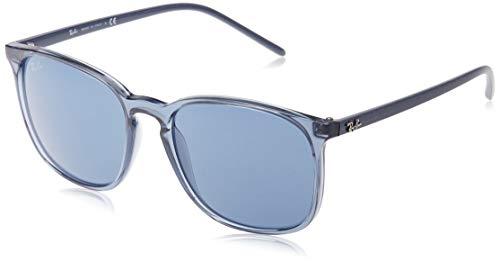 Ray-Ban Herren 0RB4387 Sonnenbrille, Blau (Transparente Blue), 56