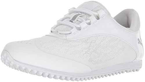 PUMA Golf Women's Summercat Sport Golf Shoe, White/Silver/high Rise, 7.5 Medium US