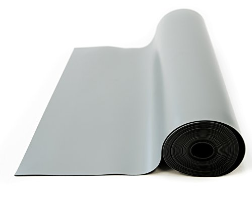 Bertech ESD High Temperature Mat Roll, 3 Feet Wide x 10 Feet Long x 0.08 Inches Thick, Gray, RoHS and REACH Compliant