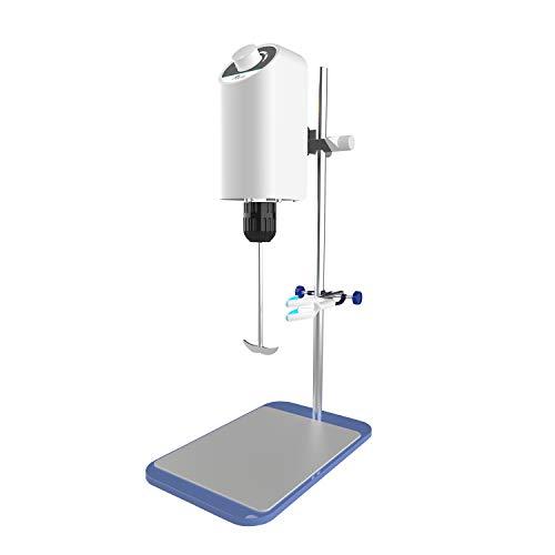 Lab Stirrer Mixer Overhead Rotary Knob,2000 RPM,10L