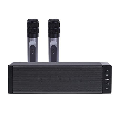 GZQDX 20W Bluetooth Altavoz Micrófono Inalámbrico Karaoke KTV DJ Home Theater TF TARD AUX Estéreo Portátil Portátil De 3.5mm Grabación