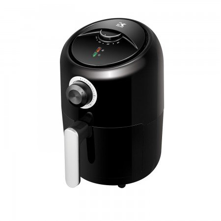 Kalorik 1.75 Quart Personal Air Fryer, Mini Space Saving Electric Healthy Cooking, Timer and Temperate Controls, Black.