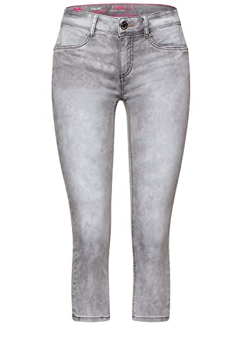 Street One Damen Slim Fit Denim in 3/4 Länge brillant Grey Random wash 26
