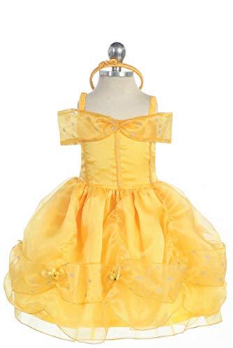 Bijan Kids 011 Princess Belle Dress (12M) Gold