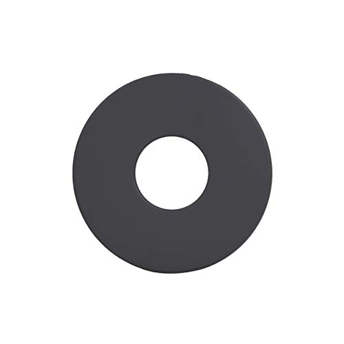 LANZZZAS Pellet rookpijp pelletkachel pellet schoorsteen rozet rand 70 mm kleur zwart Ø 80 mm