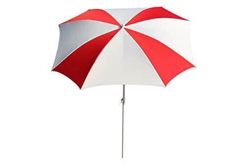 Maffei Art 18 Malta Parasol Demi-carré, cm 160x160/8 (Blanc/Rouge). Fabrique en Italie