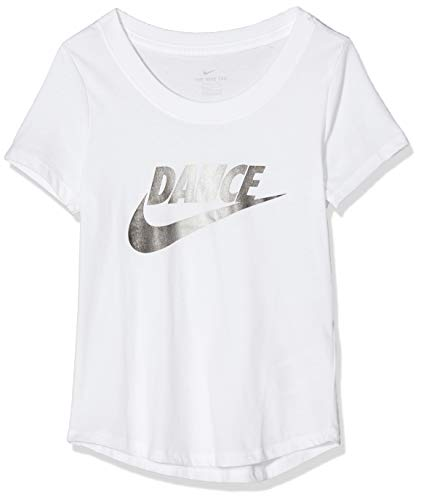 Nike Mädchen G NSW Tee Scoop Dance Swoosh T-Shirt, White, XL