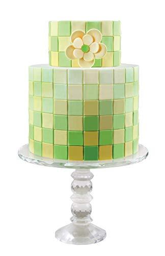 Cake Company PME MultiCutter für Kuchendesign, geometrisch, Plastik, weiß, Set of 3