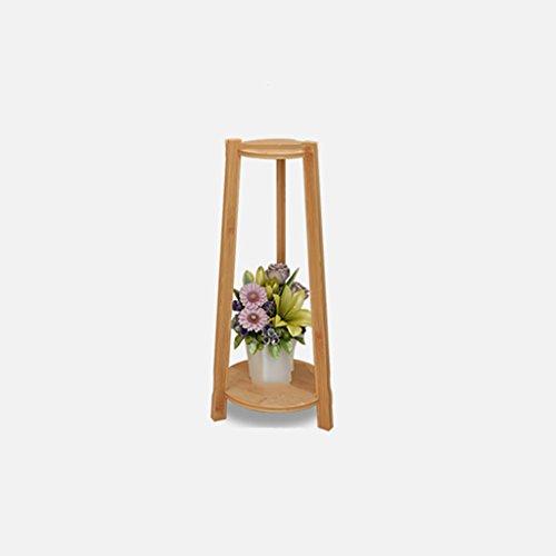 MLHJ Stand de Fleurs- Jardinière en Bois Massif, Cadre en Double Couche de bonsaï en Bambou Naturel, Convient au Balcon du Salon (Taille : 73 * 30cm)