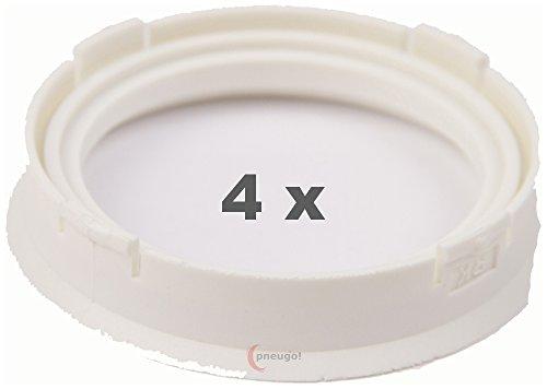 4 x pneugo! Bagues de centrage pour jantes alu 66.6 mm - 52.1 mm