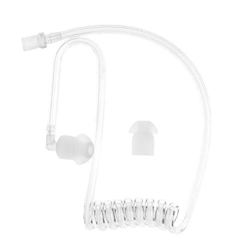 Flushzing Accesorios Auricular Transparente Bobina acústica Aire Accesorios de Tubo de Recambio...