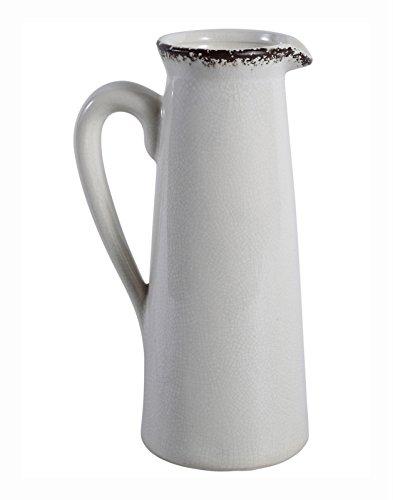 PTMD Kanne 'Liam' aus Keramik Weiß 24 cm
