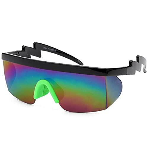 Ruluti 1pc Colorido Gafas De para Hombres Y Mujeres Aire Libre Gafas De Deportivas De Medio Formato