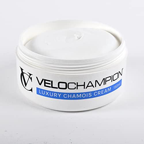 VeloChampion Luxury Crema de Gamuza Anti-Rozaduras 150ml. para Ciclistas y Corredores. Evita Las Rozaduras y Las molestias. (150 ml, Sin Mentol)