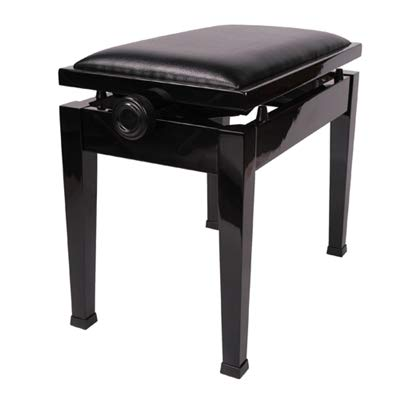 Adjustable Piano Bench Stool with Quick Adjustment in Ebony