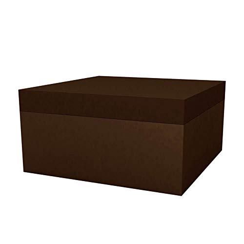 Vondom vierkante zitzak voor buiten, 80 x 80 cm, hoogte 40 cm, bronskleurig