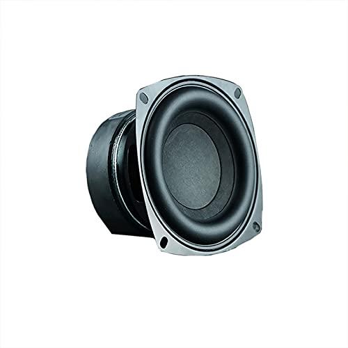 Wnuanjun 1 stück 4 Zoll 50w High Power Subwoofer Lautsprecher Woofer Auto Audio Sound Crossover Lautsprecher Runde Square DIY Teil (Größe : Square 8 OHM)