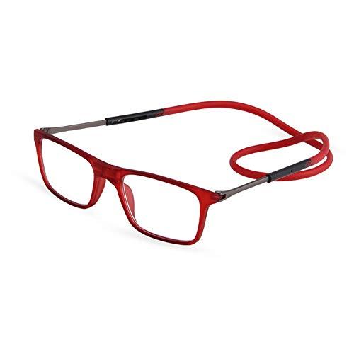 QINGXI Magnetische Leesbril Unisex Verstelbare en Comfortabele Diopter +1,0 naar +3,5