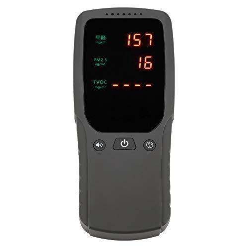 Detector de aire digital, portátil Portátil Calidad del aire Digital Formaldehído PM...