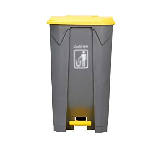 C-J-X TRASH CAN C-J-Xin Verdickte Recycling Bins, Büro Krankenhäuser Hotel Küche Dustbins Mute Abfalleimer Mülltonne for Wohn Hohe Kapazität (Size : 83 * 48 * 40CM)