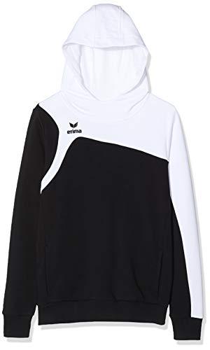 Erima Club 1900 2.0 Sweat-Shirt à Capuche Mixte Enfant, Noir/Blanc, FR : XS (Taille Fabricant : 152)