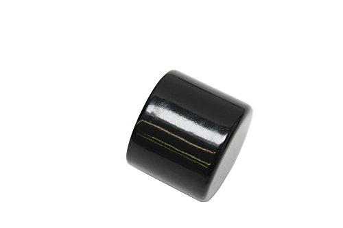 Gardinia 33176 con Tapa para cortineros para Segunda de, Serie Chicago, diámetro 20 mm, Negro