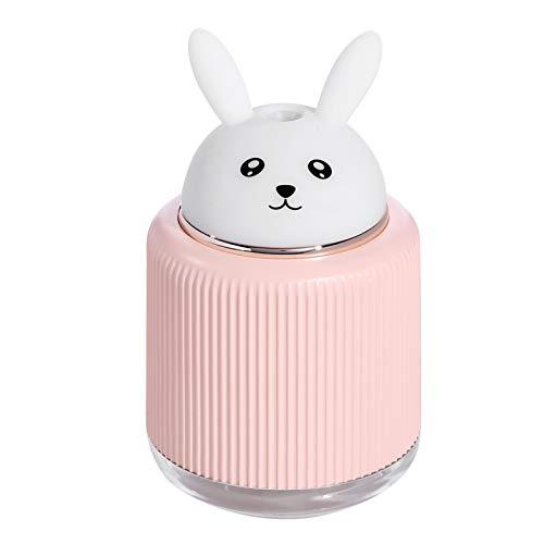 CYYS Humidificador de Aire portátil de Pet Ligero, difusor ultrasónico USB LED luz LED, para el hogar y el automóvil AutoPower Off y la función de la luz Nocturna A