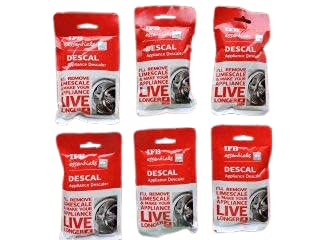IFB Essentials Descal Powder for IFB Washing Machines to Clean the Scal from Drum 100gm each Pack of 6