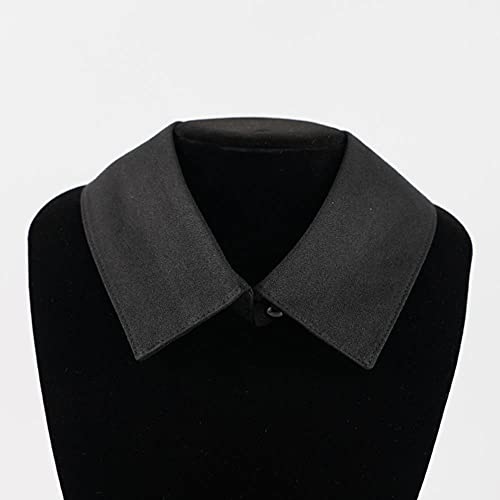 Camisa clásica de moda falso collar mujeres hombres vintage desmontable ajustable falso collar moda negro/blanco ropa accesorios-negro