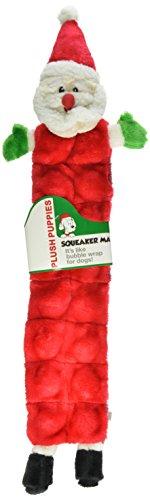 Outward Hound Kyjen PP03320 Squeaker Mat Santa Holiday 16-Squeaker Plush Squeak Toy Dog Toys, Large, Red