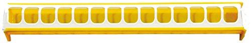 CHICK'A Mangeoire Poule Orange Blanc 75 cm