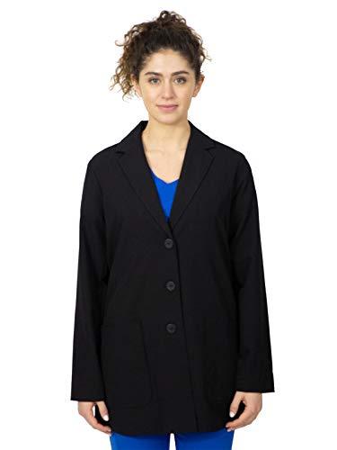 healing hands 5053 Women's Faith Notched Collar Lab Coat Black M