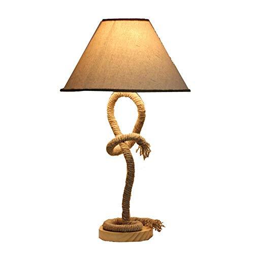 * Tafellamp van hennep, mediterrane hennep, Europese retro, handgeweven, houder voor creatieve lampen, bar, thee lounge, slaapkamer, werklampen (& Phi; 13,5 cm * Phi; 35 cm.
