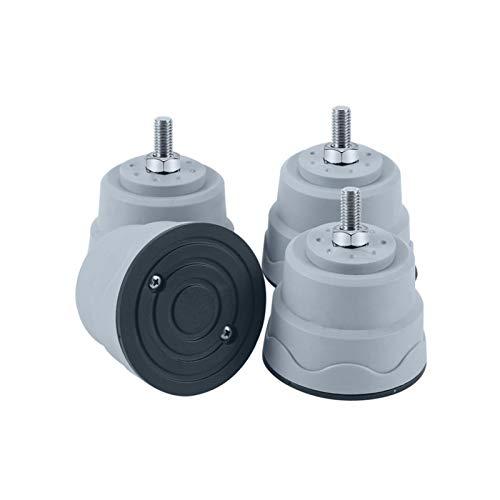 coil-c Almohadillas de pies para la lavadora, 4 unidades, universales de goma antivibración, para secadora - Aumenta la altura, detén la vibración de la lavadora