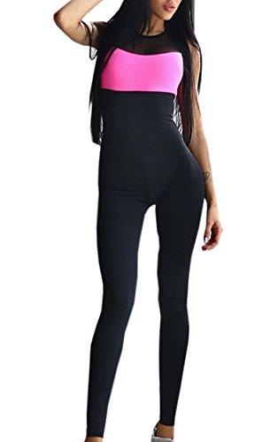 OUFour Mujeres Vendaje Playsuit Deportes Gimnasia Mono y Mameluco Fitness Jogging para Pantalones de Yoga Jumpsuits