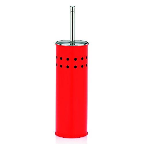 Kela 22525 set porte-brosse WC, métal mat rouge vif, 'Vino'