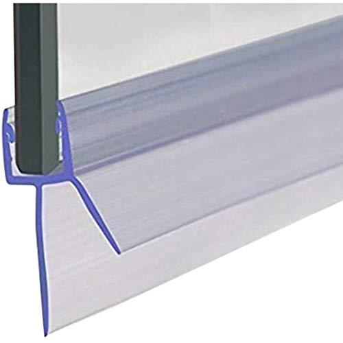 Cozylkx Frameless Shower Door Bottom Seal with Drip Rail 3/8' Thick Glass 36' Long Sweep - Glass Door Seal Strip Stop Shower Leaks