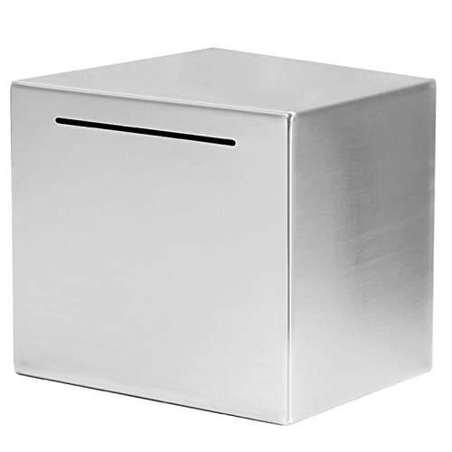 Naliovker Hucha segura hecha de acero inoxidable, caja segura para ahorrar dinero para niños, solo puede ahorrar la hucha que no se puede sacar